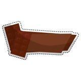Значок сладостного шоколада иллюстрация штока