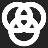 Значок с 3 блокируя кругами кольца Абстрактный символ для жулика иллюстрация вектора