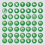 Значок с зеленым вектором круга Стоковая Фотография