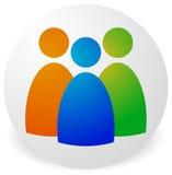 Значок с 3 диаграммами - бизнесменами, характерами, занятостью, h Стоковые Фото
