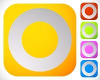 Значок с пустым кругом Значок мотива круга родовой иллюстрация штока