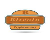 Значок с символом монетки бита Стоковое Фото