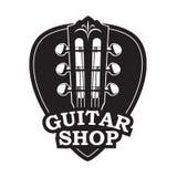 Значок с шеей и выбором гитары бесплатная иллюстрация