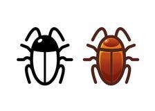 Значок таракана Объект изолята Стоковое Изображение RF