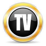 Значок ТВ Стоковые Фотографии RF
