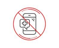 Значок телефонной линии медицины Мобильный медицинский знак помощи вектор бесплатная иллюстрация