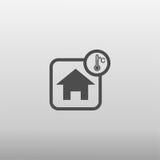 Значок температуры дома Стоковое фото RF