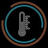 Значок термометра жары - измерение вектора бесплатная иллюстрация