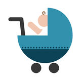 Значок тележки младенца Стоковое Изображение