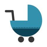 Значок тележки младенца Стоковое Изображение RF