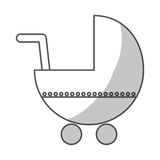 Значок тележки младенца Стоковые Изображения RF