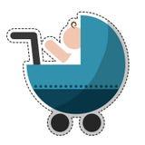 Значок тележки младенца Стоковое Фото