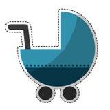 Значок тележки младенца Стоковые Фотографии RF