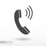 Значок телефона плоский Телефон знака Vector логотип для веб-дизайна, черни и infographics Стоковые Фотографии RF