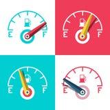 Значок топлива Набор значков управлением приборной панели автомобиля стоковые изображения rf