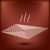 Значок топления пола eps10 Стоковая Фотография RF