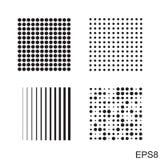 Значок точек квадратный Стоковые Изображения