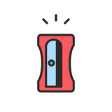 Значок точилки для карандашей Стоковые Изображения