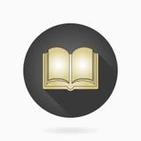 Значок точного вектора плоский с книгой иллюстрация вектора