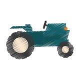 Значок трактора фермы иллюстрация штока