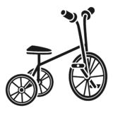 Значок трицикла, простой стиль иллюстрация вектора