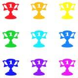 Значок трофея, знак, самая лучшая иллюстрация 3D Стоковые Изображения
