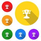 Значок трофея, знак, самая лучшая иллюстрация 3D Стоковое Изображение