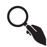 Значок лупы Стоковое фото RF
