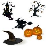 Значок установленный на хеллоуин Стоковые Изображения RF