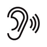 Значок уха иллюстрация штока