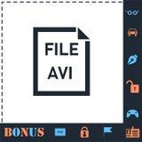 Значок файла AVI плоско иллюстрация штока
