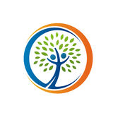 Значок фамильного дерев дерева здоровья Стоковые Изображения RF