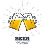Значок фестиваля пива Стоковая Фотография