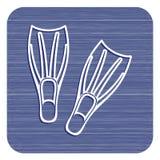 Значок флипперов подныривания Стоковое фото RF