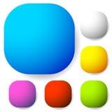Значок, форма кнопки с пустым пространством Предпосылка для вашего текста, Стоковые Изображения