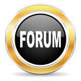 значок форума Стоковые Изображения RF