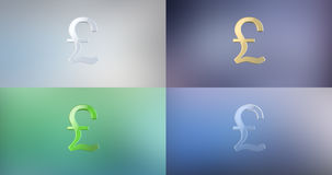 Значок фунта 3d Великобритании бесплатная иллюстрация
