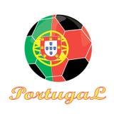 Значок футбола Португалии Стоковое Фото