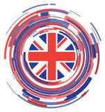 Значок флага Великобритании плоский Стоковая Фотография