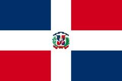 Значок флага доминиканский плоский Стоковая Фотография