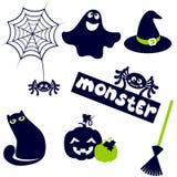 Значок хеллоуина милый иллюстрация вектора