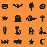 Значок хеллоуина Стоковое фото RF