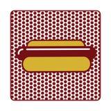 Значок хот-дога плоский Стоковые Фото