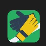 Значок хранителя перчаток Стоковая Фотография RF