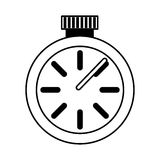 Значок хронометра изолированный вахтой Стоковые Фотографии RF