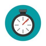 Значок хронометра изолированный вахтой Стоковое Фото