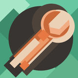 Значок цвета гаечного ключа современный для сети Новый творческий символ дизайна бесплатная иллюстрация