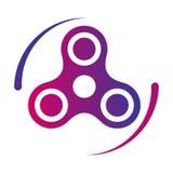 Значок цвета градиента вектора игрушки непоседы обтекателя втулки руки Стоковые Фото
