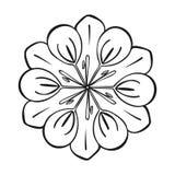 Значок цветка медицины, простой стиль иллюстрация вектора