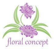 Значок цветка флористический Стоковые Фото
